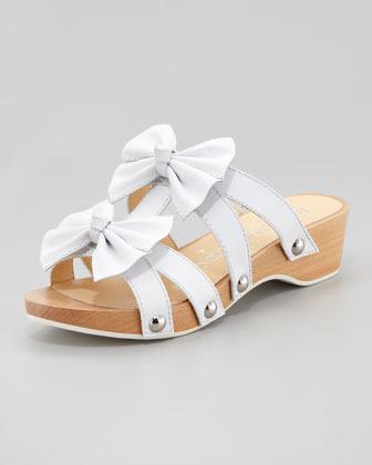 Nanette Lepore Mojito Clog Bow Slide, White