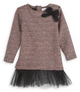Andy & Evan Toddler's & Little Girl's Sequins Sweater Stripe Tunic