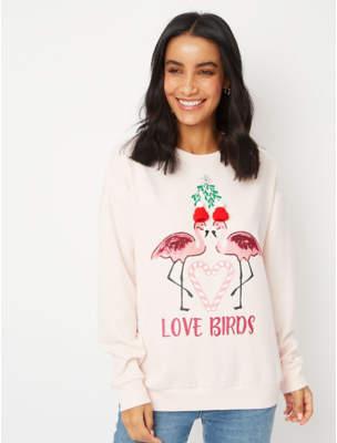 George Pink Flamingo Christmas Sweatshirt