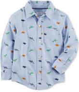 Carter's Dino-Print Cotton Shirt, Little Boys & Big Boys