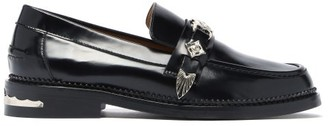 Toga Leather Penny Loafers - Black