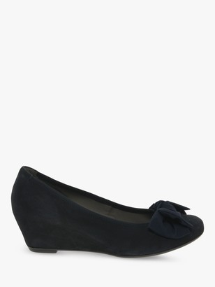 Gabor Fallon Wedge Heel Suede Court Shoes