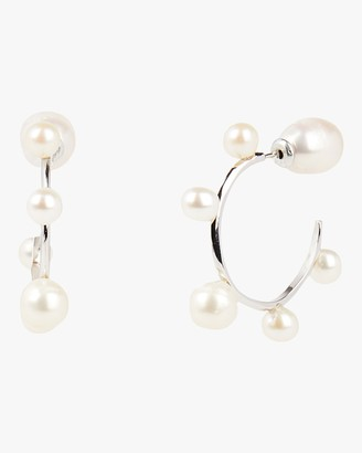 Carolee Freshwater Pearl Mini Hoop Earrings