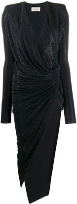 Alexandre Vauthier Studded Asymmetric-Hem Dress