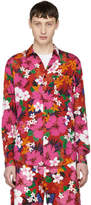 Ami Alexandre Mattiussi Red Floral Printed Shirt