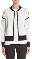 Lafayette 148 New York Women's Matte Crepe Reversible Knit Bomber Jacket