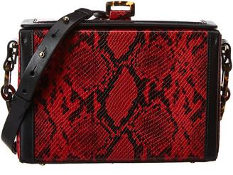 Nico Giani Cerea Large Python-Embossed Leather Box Bag