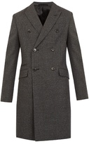 Prada Checked double-breasted wool overcoat
