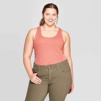 Universal Thread Women's Plus Size Scoop Neck Rib Racerback Tank Top