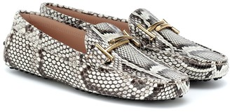 Tod's Gommino python loafers