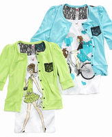 Beautees Kids Set, Girls Cardigan and Tee