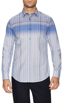 Vince Long Sleeve Engineered Plaid Sportshirt