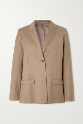Totême Wool-blend Flannel Blazer - Beige