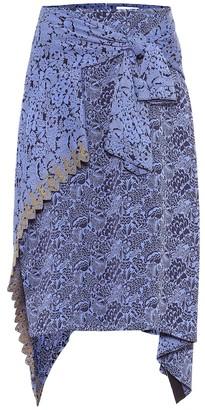 Chloé Asymmetric jacquard skirt