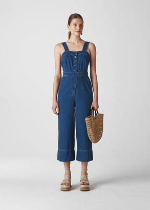Tia Denim Button Jumpsuit