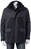 Izod Men's Colorblock Hooded 3-in-1 Systems Jacket