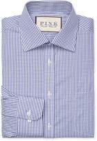 Thomas Pink Men's Burley Check Classic Fit Traveler Dress Shirt
