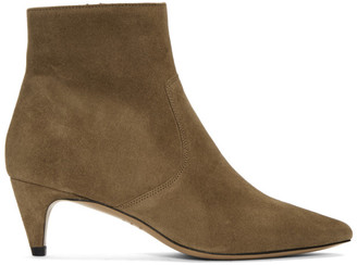 Isabel Marant Taupe Suede Derst Boots