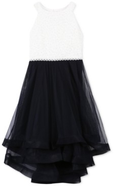 Speechless Girls Plus Size Glitter Lace Fit and Flare Dress