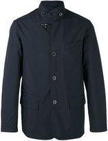 Fay buttoned high collar jacket - men - Cotton/Polyamide/Polyester/Polyurethane - L