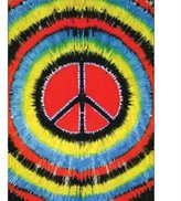 Old Glory Tie Dye Peace Sign Tapestry