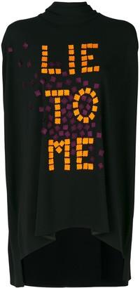 Talbot Runhof Lantern graphic-print blouse