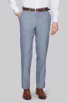 Moss Esq. Regular Fit Ice Blue Trouser