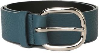 Orciani Cintura In Pelle Blu Donna