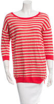 Halston Striped Long Sleeve Knit Top