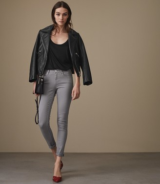 Reiss Stevie - Mid Rise Skinny Jeans in Storm