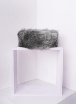 Missy Empire Delia Grey Faux Fur Headband