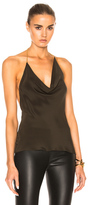 Cushnie et Ochs Silk Crepe Halter Chain Top in Green.