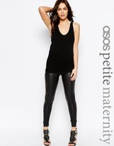 Asos PETITE Leather Look Legging