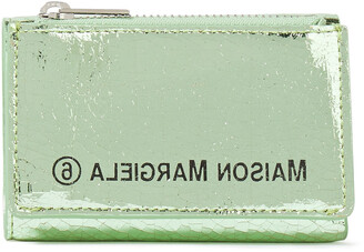 MM6 MAISON MARGIELA Printed Metallic Cracked-leather Wallet