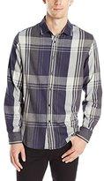 Howe Men's Diamond Rain Long Sleeve Flannel Button Up Shirt