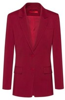 HUGO BOSS - Regular Fit Jacket In Stretch Wool With Tonal Undercollar - Dark Red