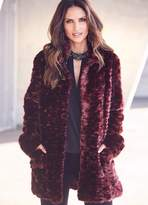Kaleidoscope High Collar Faux Fur Coat