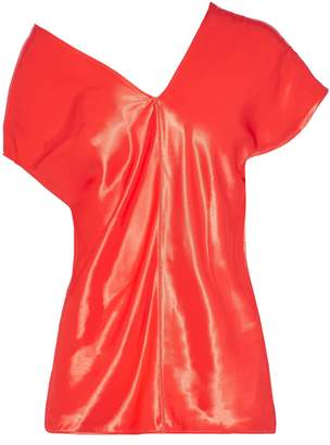 Helmut Lang Asymmetric Satin Top