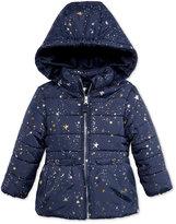 Osh Kosh Star-Print Puffer Jacket with Faux-Fur, Toddler Girls (2T-4T)
