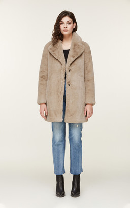 Soia & Kyo RENADA mid-length faux fur coat