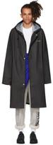 Vetements Black Logo Raincoat