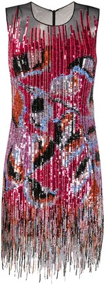 Emilio Pucci fringed sequin embellished dress