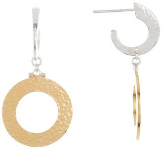 Gurhan 24K Gold Vermeil Mango Hammered Hoop Earrings
