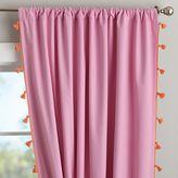 Tassel Blackout Drape, 52&quot X 63&quot, Pink
