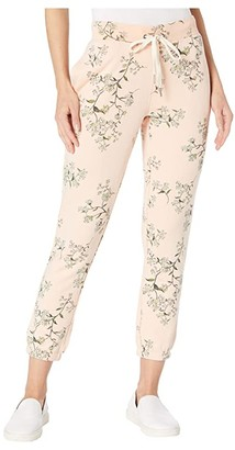 n:philanthropy Night Floral Printed French Terry Joggers (Nude Sunset Ditsy) Women's Casual Pants