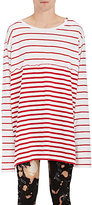 Faith Connexion MEN'S STRIPED COTTON OVERSIZED T-SHIRT