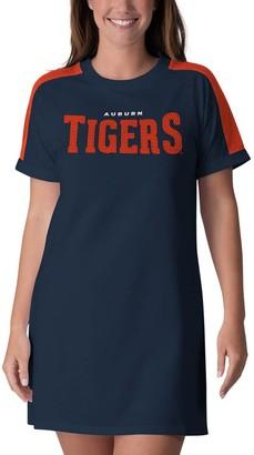 G Iii Women's G-III 4Her by Carl Banks Navy Auburn Tigers Training Camp Tee Dress