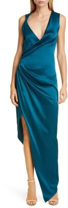 Cushnie Punge Neck Sleeveless Silk Gown