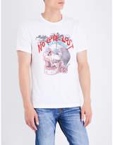 True Religion Black Printed Innovative No Love Lost Logo-print Cotton-jersey T-shirt