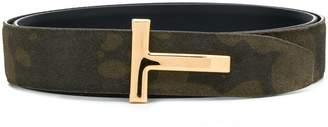 Tom Ford camouflage print belt